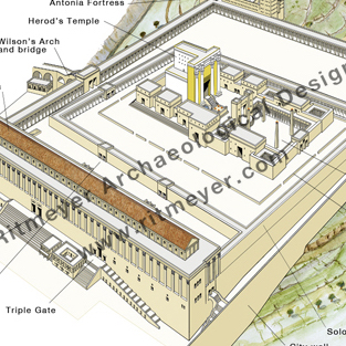 The Temple Mount In The Herodian Period 37 Bc 70 A D Biblical Archaeology Society