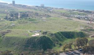 Aerial view of Tel Akko