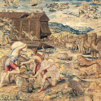 """""""Animals Entering the Ark"""" tapestry"""