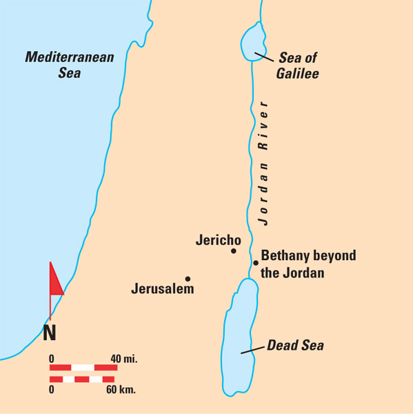 Baptismal site bethany beyond the jordan added to unesco world bethany map gumiabroncs Choice Image